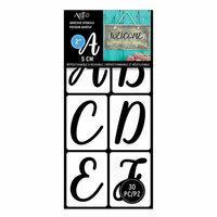 Art-C - Adhesive Stencils - Handwritten Script Font - 2 Inch