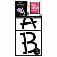 Art-C - Adhesive Stencils - Fun Font - 4 Inch