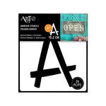 Art-C - Adhesive Stencils - Fun Font - 6 Inch