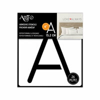 Art-C - Adhesive Stencils - Rounded Thin Font - 6 Inch