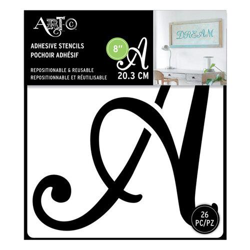 Art-C - Adhesive Stencils - Script Font - 8 Inch