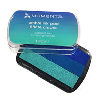 Momenta - Ombre Pigment Ink Pads - Blue to Teal