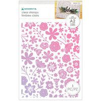 Momenta - Unmounted Cling Rubber Stamps - Background Flowers