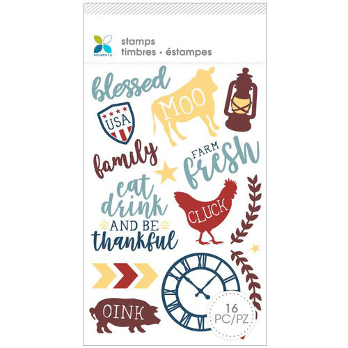Momenta - Unmounted Cling Rubber Stamps - Blessed Moo Eat