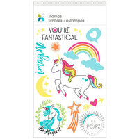 Momenta - Unmounted Cling Rubber Stamps - Fantastical Unicorn