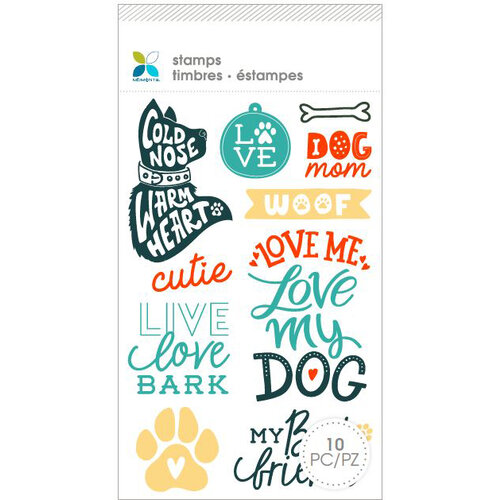 Momenta - Unmounted Cling Rubber Stamps - Dog Mom