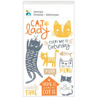 Momenta - Unmounted Cling Rubber Stamps - Cat Lady