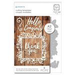 Momenta - Metal Dies - Intricate Floral Frame, Hello, Congrats