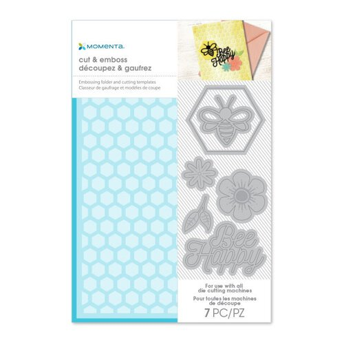 Momenta - Cut and Emboss Template - Hexagon and Bee Happy