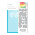 Momenta - Cut and Emboss Template - Balloons and Congrats