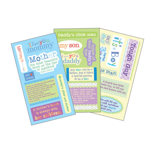 Momenta - Vellum Stickers - Quote Pad - Born To Be Wild Boy