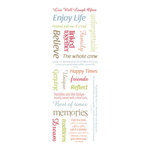 Momenta - Clear Stickers with Glitter Accents - Family Ties