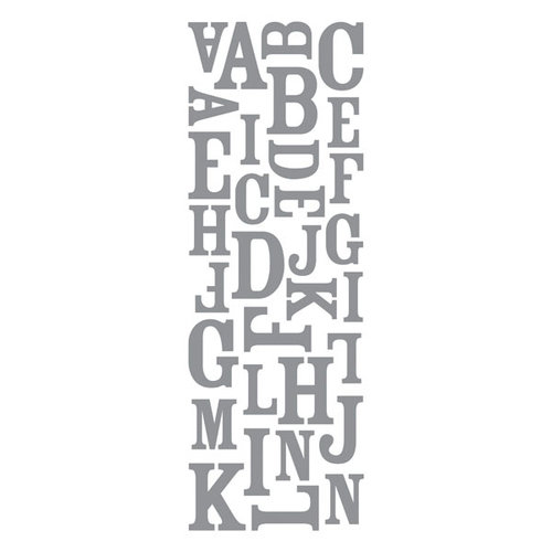 Momenta - Puffy Alphabet Stickers - Silver Foil