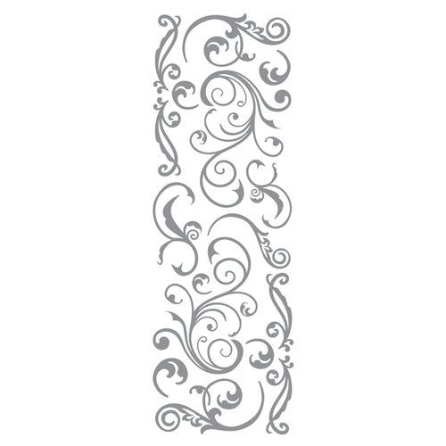 Momenta - Puffy Stickers with Foil Accents - Silver Flourish