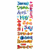 Momenta - Puffy Stickers with Glitter Accents - Months