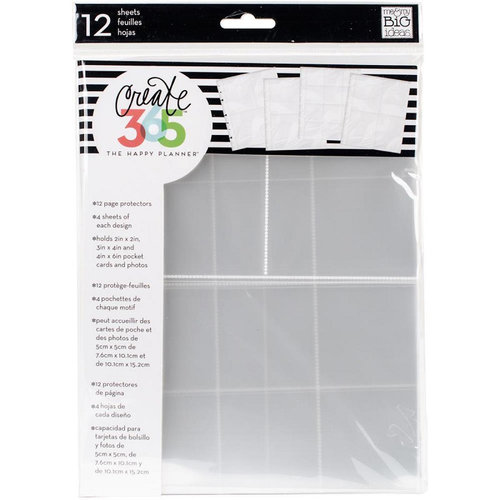 Me and My Big Ideas - Create 365 Collection - Page Protectors - Assorted