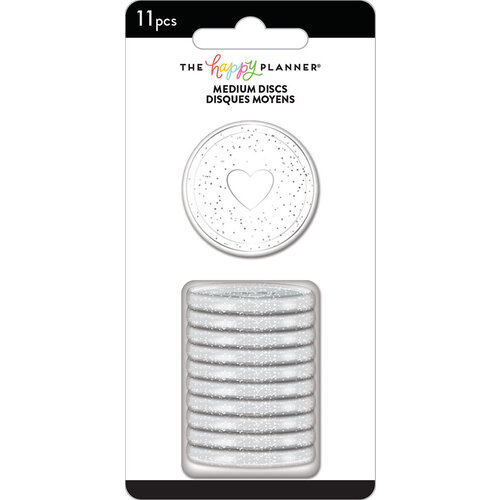 Me and My Big Ideas - Happy Planner Collection - Planner - Medium Discs - Silver Glitter