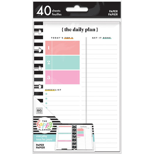 Me and My Big Ideas - Happy Planner Collection - Planner - Mini - Fill Paper - The Daily Plan