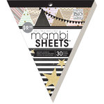 Me and My Big Ideas - MAMBI Sheets - Banner Paper Pad with Glitter Accents - Gold Rush