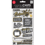 Me and My Big Ideas - MAMBI Sticks - Chipboard Stickers - Chalk - Makes Me Smile - Gold