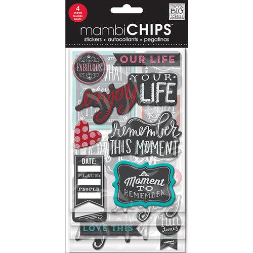 Me and My Big Ideas - MAMBI Sticks - Chipboard Stickers - Chalk - Fabulous