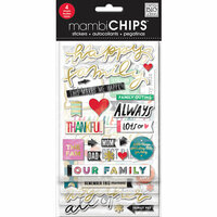 Me and My Big Ideas - MAMBI Sticks - Chipboard Stickers - Happy Family