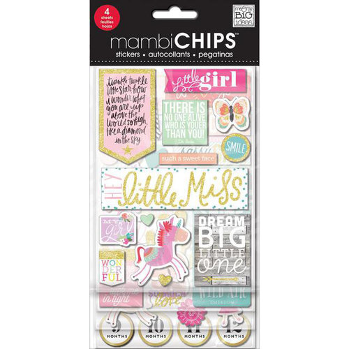 Me and My Big Ideas - MAMBI Sticks - Chipboard Stickers - Little Girl
