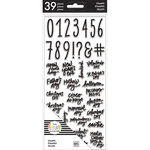Me and My Big Ideas - Create 365 Collection - Planner - Big - Clear Acrylic Stamps - Numbers
