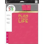 Me and My Big Ideas - Create 365 Collection - Planner - Snap in Hard Cover - Big - Plan a Happy Life - Pink