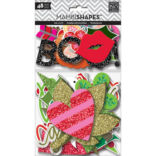 Me and My Big Ideas - MAMBI Shapes - Die Cut Cardstock Pieces - Holiday Icons