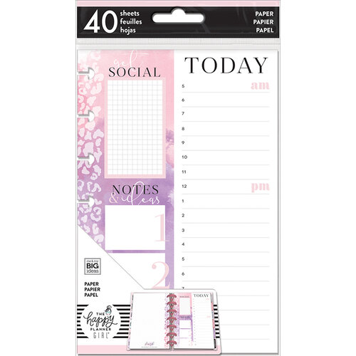 Me and My Big Ideas - Glam Girl Collection - Planner - Mini - Fill Sheets