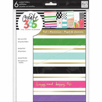 Me and My Big Ideas - Create 365 Collection - Planner - Pocket Folders - Stay Happy with Foil Accents