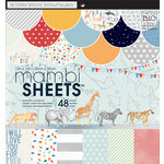 Me and My Big Ideas - MAMBI Sheets - 12 x 12 Specialty Paper Pad - Cool Baby Boy