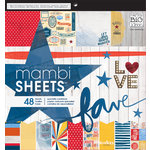 Me and My Big Ideas - MAMBI Sheets - 12 x 12 Specialty Paper Pad - Americana