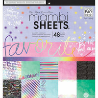 Me and My Big Ideas - MAMBI Sheets - 12 x 12 Paper Pad - Rainbow Foil