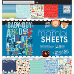 Me and My Big Ideas - MAMBI Sheets - 12 x 12 Paper Pad - Baby Boy Dreams
