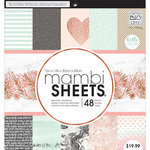 Me and My Big Ideas - MAMBI Sheets - 12 x 12 Paper Pad - Rose Marble