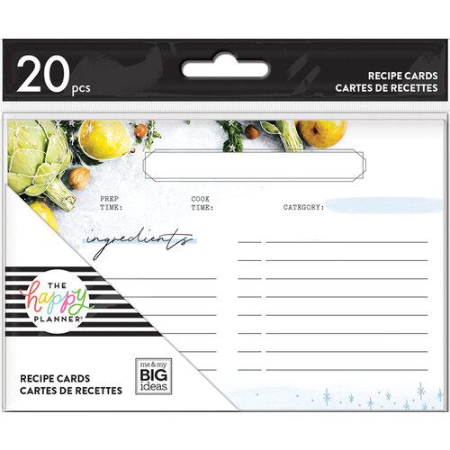 Me and My Big Ideas - Happy Planner Collection - Planner - Recipe Cards - Foodie