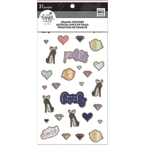 Me and My Big Ideas - Glam Girl Collection - Planner - Enamel Stickers with Foil Accents