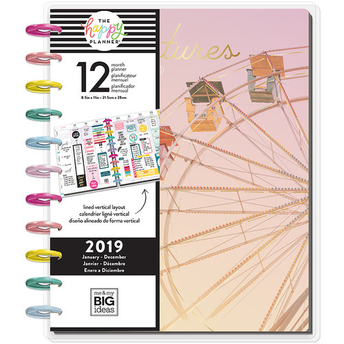 Me and My Big Ideas - Create 365 Collection - Planner - Big - Adventures Ahead - 2019