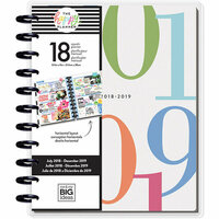 Me and My Big Ideas - Create 365 Collection - Planner - Big - Colorblock Type - July 2018 to December 2019