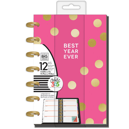 Me and My Big Ideas - Create 365 Collection - Planner - Mini - Best Year Ever with Foil Accents - Undated