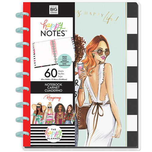 Me and My Big Ideas - Happy Planner Collection - Planner - Classic - Happy Vibes Notebook with Foil Accents