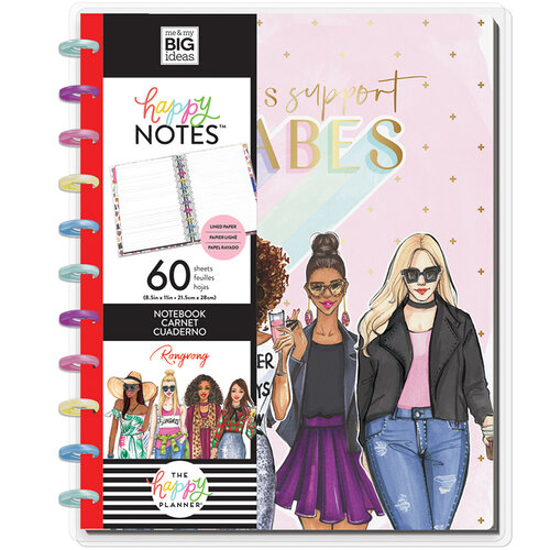 Me and My Big Ideas - Happy Planner Collection - Planner - Big - Babes Support Babes Notebook with Foil Accents
