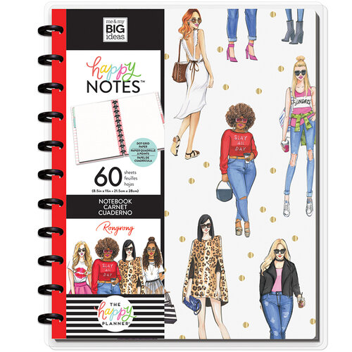 Me and My Big Ideas - Happy Planner Collection - Planner - Big - Slay All Day Gold Dots Notebook with Foil Accents