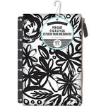 Me and My Big Ideas - Create 365 Collection - Planner - Snap In Pen Case - Bold Black Flowers