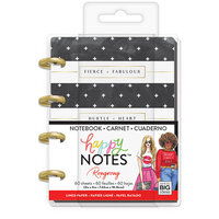 Me and My Big Ideas - Happy Planner Collection - Planner - Micro - Black and White Stripe with Gold Memo Book with Foil Accents