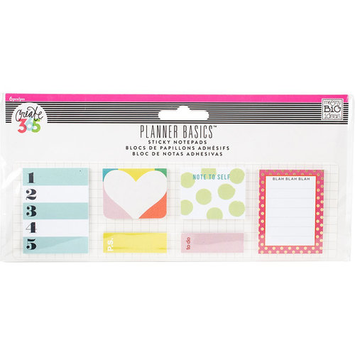 Me and My Big Ideas - Create 365 Collection - Small Sticky Notes - Bright