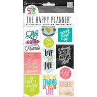 Me and My Big Ideas - Create 365 Collection - Cardstock Stickers - Life Quotes