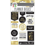 Me and My Big Ideas - Create 365 Collection - Cardstock Stickers - Seize the Day - Gold